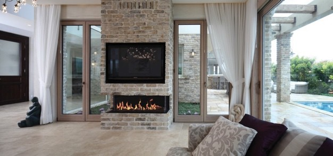 150 Three Sided Fireplace