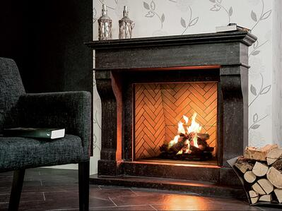 Ortal Traditional Front-Facing Gas Fireplace