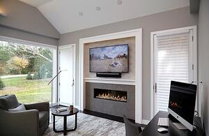Zero-Clearance fireplace