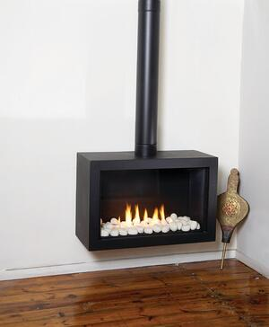 stand alone fireplace tradition of kitchen design